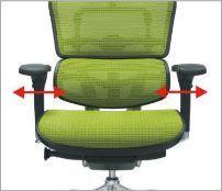 Justerbar bredde på armlæn - ErgoHuman ergonomisk kontorstol