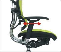 Armlæn kan justeres i dybden - ErgoHuman ergonomisk kontorstol