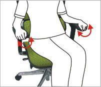 Roterbare armlæn - ErgoHuman ergonomisk kontorstol
