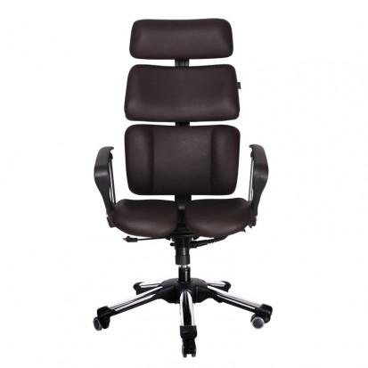Doctor fra HaraTech - designer ergonomisk kontorstol med patenteret siddesystem læder forfra