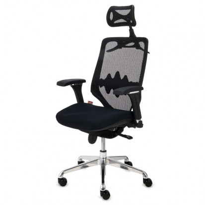 Futura 4 - Head Rest Multi Ergonomisk Kontorstol sort