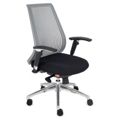 IDEAL - Professionel kontorstol med stof sæde og vævet plastic ryg