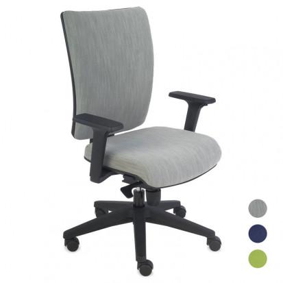 Kim Kontorstol med justerbart ryglæn og sæde - alle farver
