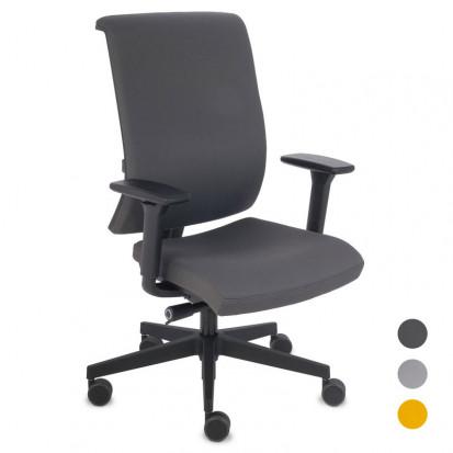 Level kontorstol med justerbart ryglæn - alle farver