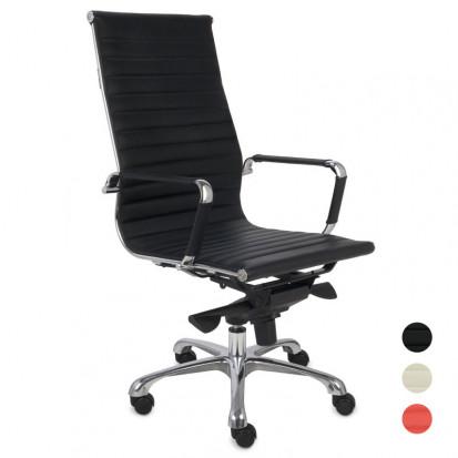 next kontorstole 3 farver rød creme sort læder