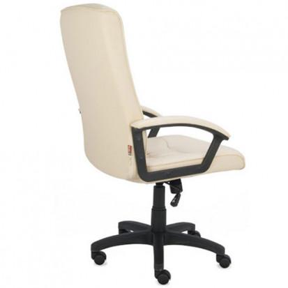 Kr 800,- Relax læder kontorstol i Creme / Beige