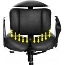 Doctor fra HaraTech - designer ergonomisk kontorstol med patenteret siddesystem justerbart sæde