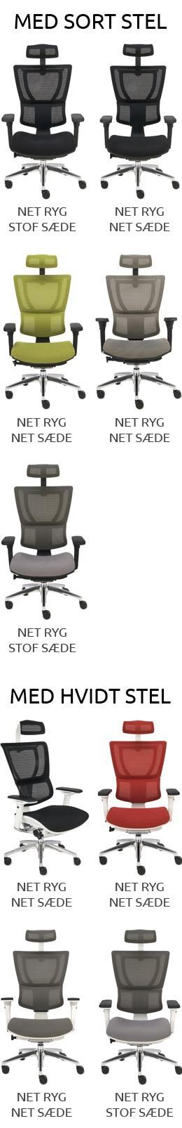Oversigt over IOO KMD kontorstol modeller