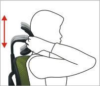 Justerbar nakkestøtte - ErgoHuman ergonomisk kontorstol