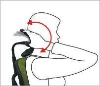 Nakkestøtten kan vinkles - ErgoHuman ergonomisk kontorstol