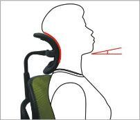 Justerbar vinkel på nakkestøtte - ErgoHuman ergonomisk kontorstol