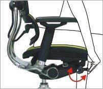 Modstanden i ryggen kan justeres - ErgoHuman ergonomisk kontorstol