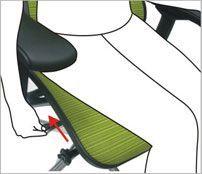 Justering af vinklen på ryglænet - ErgoHuman ergonomisk kontorstol