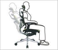 Vinkel på ryglæn - ErgoHuman ergonomisk kontorstol