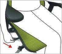 Justering af sædedybde - ErgoHuman ergonomisk kontorstol