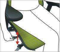 Justerbart sæde - ErgoHuman ergonomisk kontorstol