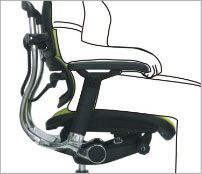 Justerbar sædehøjde - ErgoHuman ergonomisk kontorstol