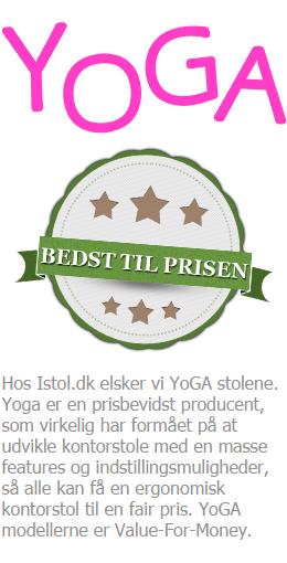 Yoga ergonomisk kontorstol - bedst til prisen